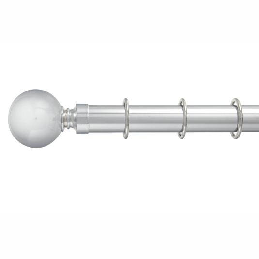 Oxford Chrome Pole Set 240cm - Ball Finial