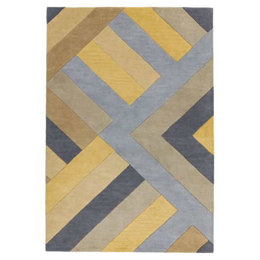 Reef RF02 Big Zig Ochre & Grey 120cm x 170cm Rug