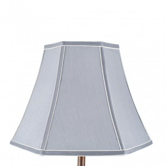 30cm Grey Polysilk Bowed Light Shade