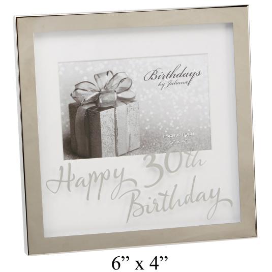 Happy 30th Birthday 6 x 4 Photo Frame