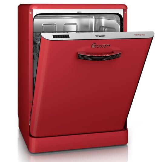 Swan Retro Red Dishwasher