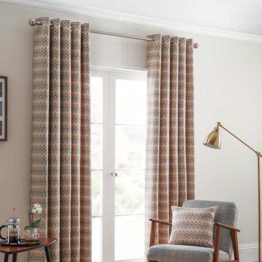Belfield Rio Ochre 66x90 Curtains