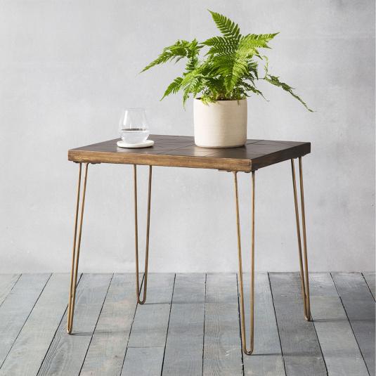 Venice Bronze Ceramic Side Table