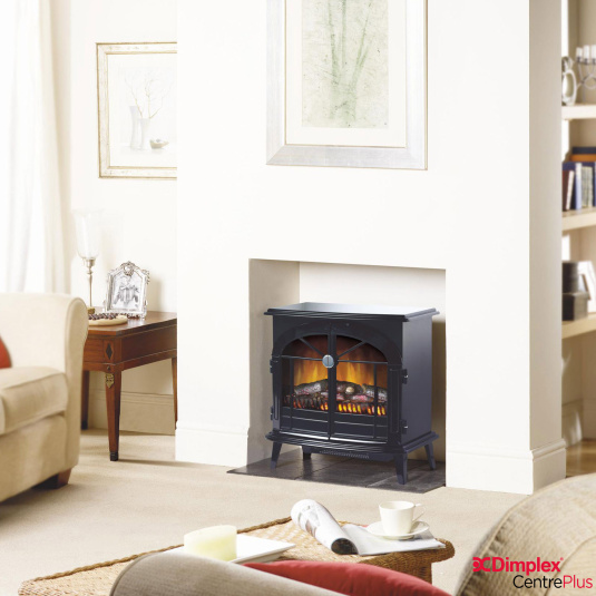 Dimplex Stockbridge Optiflame Black Electric Stove