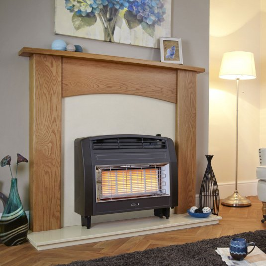 Flavel Strata Brown Radiant Gas Fire