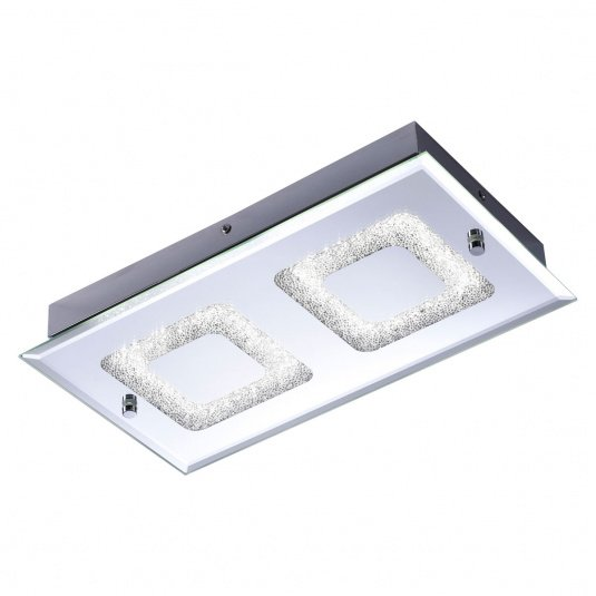 Lisa LED Two Flush Ceiling Light