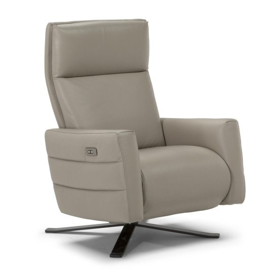 Natuzzi Editions Leather Istante Swivel Chair