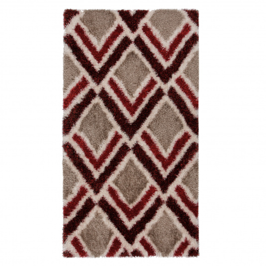 Velvet Bijoux Red & Brown 160cm x 230cm Rug
