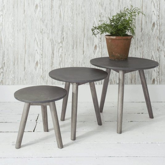 Burton Ash Grey Nest of Tables