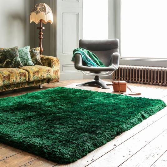Plush Shaggy Emerald 140cm x 200cm Rug