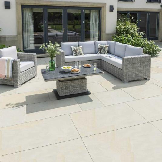 Norfolk Leisure Malibu Rattan Corner Garden Sofa Set