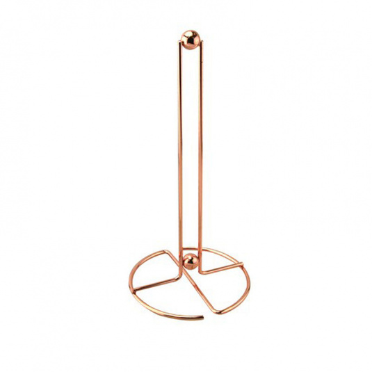 Rose Gold Effect Wire Deluxe Kitchen Roll Holder