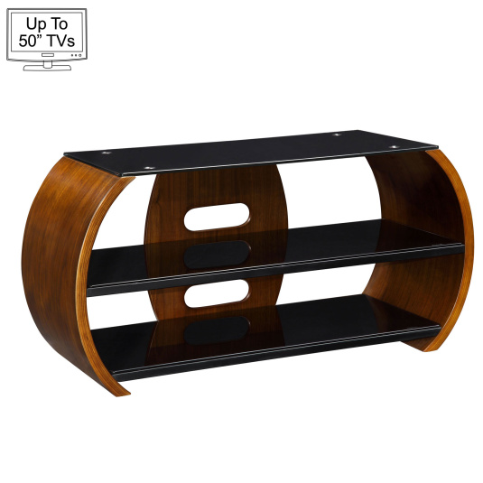 """Jual JF208 Curve Walnut TV Stand for up to 50"""" TVs"""
