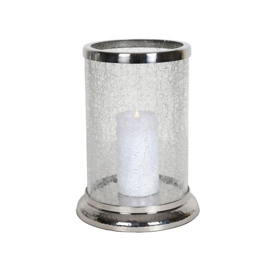 Small Crackled Pillar Candle Holder