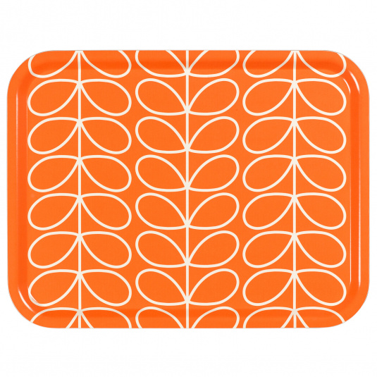 Orla Kiely Linear Stem Large Persimmon Orange Tray