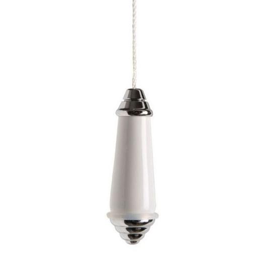 Miller White Ceramic Light Pull