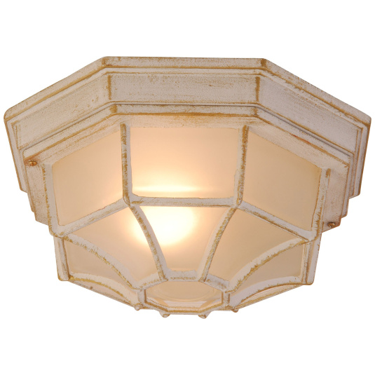 Globo Perseus White & Gold Outdoor Ceiling Light