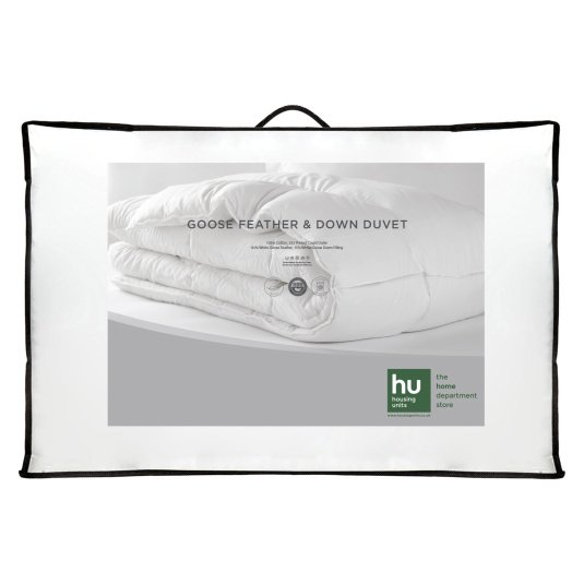 HU Home Goose Feather & Down 13.5 Tog Duvet Collection