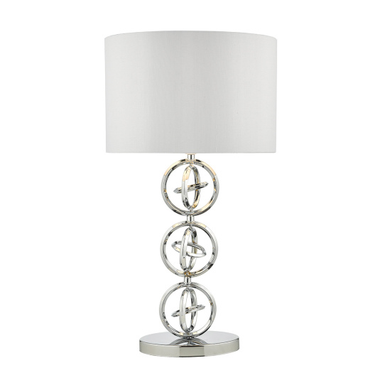 Innsbruck Polished Chrome Table Lamp & Ivory Shade