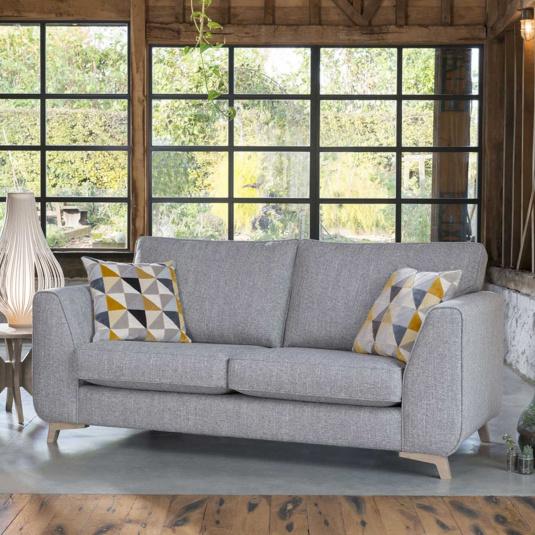 Westbrook Grey Fabric 2 Seater Sofa