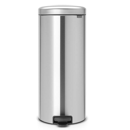 Brabantia 30 Litre NewIcon Matt Steel Fingerprint Proof Pedal Bin