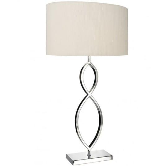Luigi Polished Chrome Table Lamp