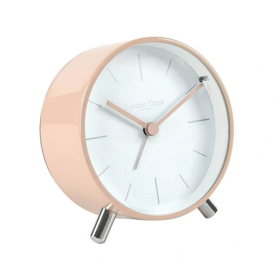 London Clock Company Blush Metal Alarm Clock