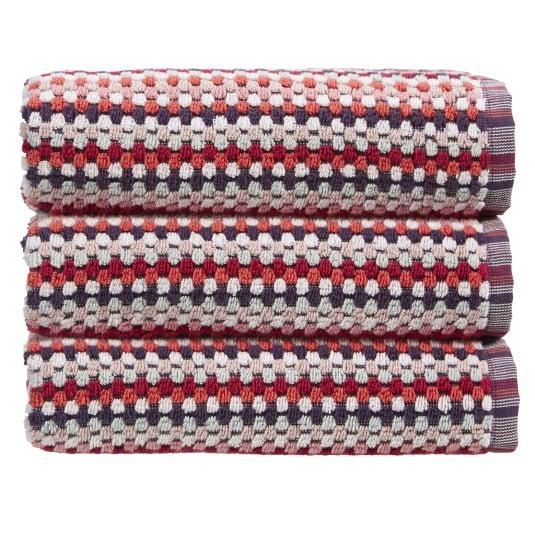 Christy Carnaby Stripe Berry Hand Towel