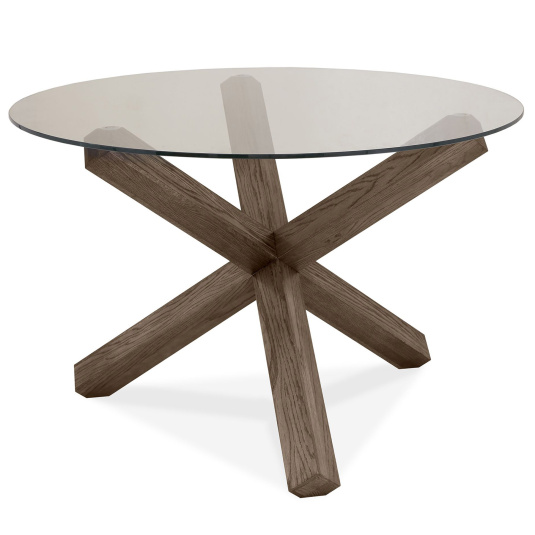 Hennessey Circular Glass Dining Table
