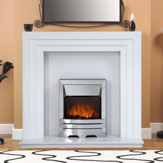 Varso Brilliant White Fire Surround