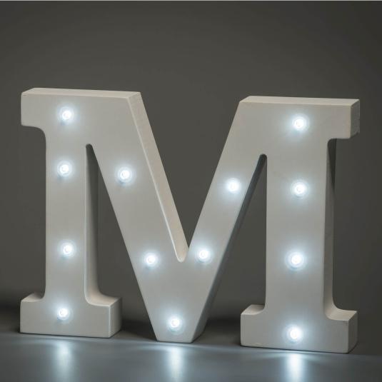 Light Up Letter - M