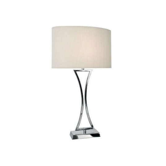 Oporto Chrome Table Lamp and Shade
