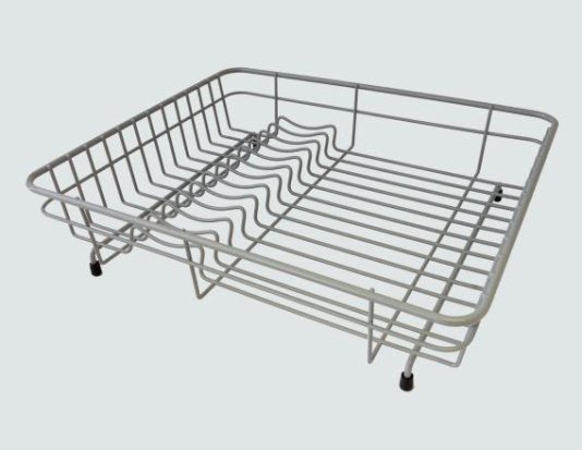Medium Grey Coated Steel Dish Drainer