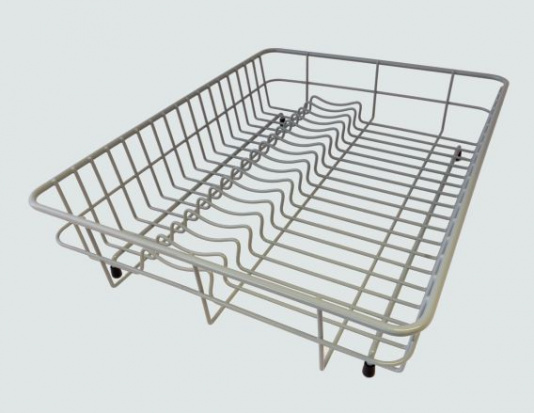 Large Grey Coated Steel Dish Drainer