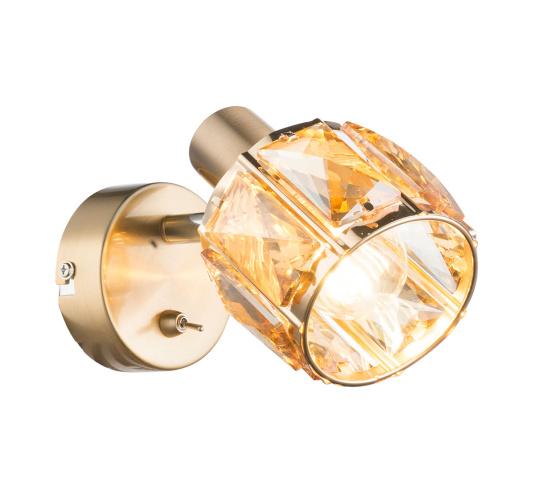 Kris Rose Gold Crystal Wall Light from Globo