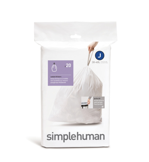 Simplehuman 38 To 40 Litre Sure Fit Bin Liners - Size J