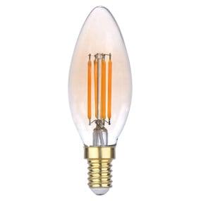 Liluco SES E14 4W Candle Vintage Style LED Filament Light Bulb