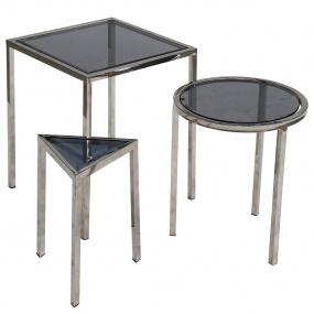 Flow Silver Nest of Tables