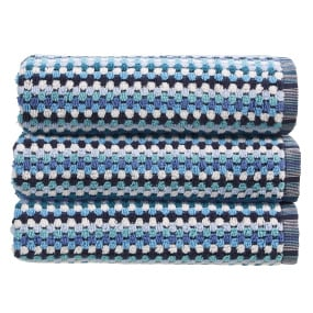Christy Carnaby Stripe Blue Bath Towel