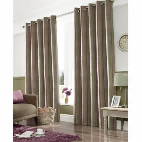 Downton Mulberry Curtains