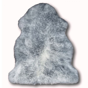 Single Grey Tipped Sheepskin Rug