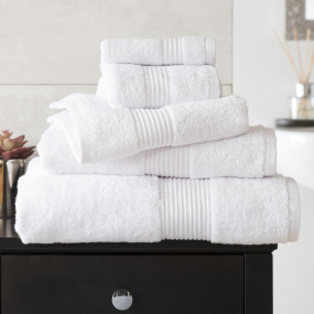 Bliss White Hand Towel