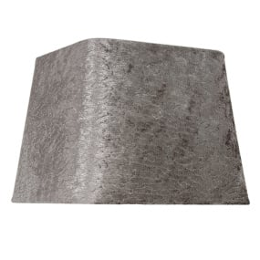 Dual Fitting 10 Inch Taupe Stone Velvet Square Lamp Shade