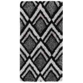 Velvet Bijoux Black & Grey 120cm x 170cm Rug