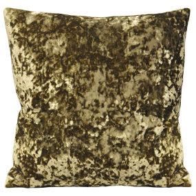Riva Paoletti Roma Crushed Velvet Taupe Cushion