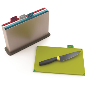 Joseph Joseph Index Chopping Board Set with Free Elevate Chefs Knife