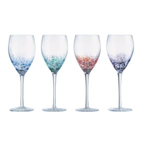 Set of 4 Speckled Wine Glasses