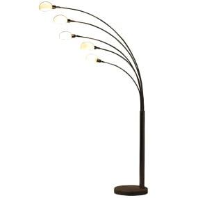 Lounge Chrome 5 Light Floor Lamp