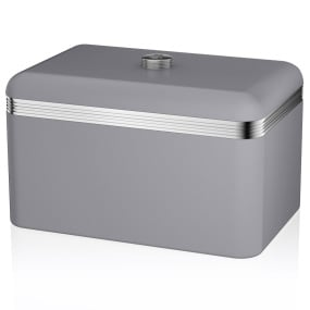 Swan Retro Grey Bread Bin