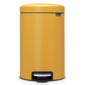 Brabantia NewIcon 12 Litre Mineral Mustard Yellow Pedal Bin